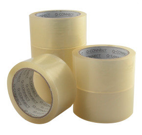 Qconnect Packaging Tape Low Noise Clear - 6 Pack