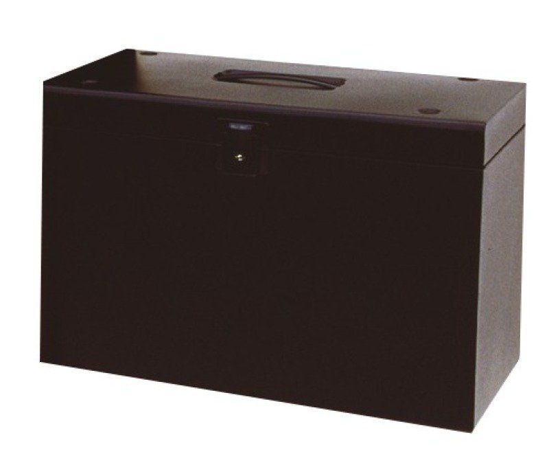 Image of CATHEDRAL A4 METAL FILE BOX BLACK A4BK