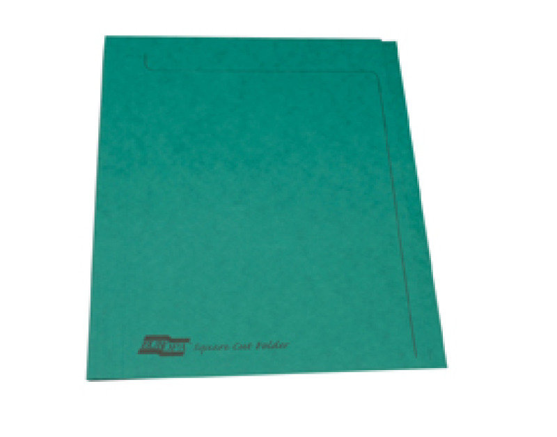 Europa Squarecut Folder Foolscap - Green - 50 Pack