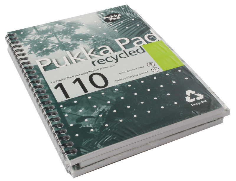 Pukka Recycled A5 Pad 80gsm 110pages - 3 Pack