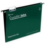 Crystalfile Extra A4 Green Pk25 70634