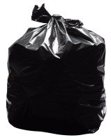 2Work Black Light Duty Refuse Sacks (Pack of 200)