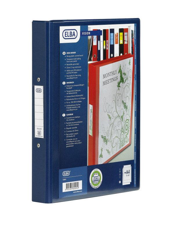 Image of BANTEX 4R BINDER PVC A4 BLUE 100080876