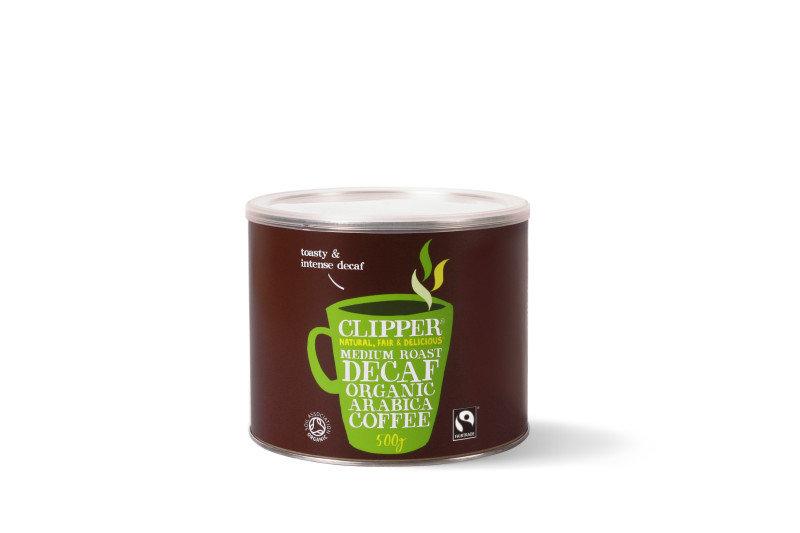 Clipper Fair Trade Organic Decaffeinated Arabica Coffee - 500g