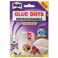 Pritt Glue Dots 64 Nperm 12x1 Wllt - 12 Pack