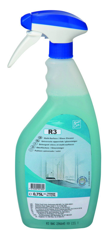 Image of Diversey Room Care R3 Multisurface and Glass Cleaner 750ml (Pack of 6)
