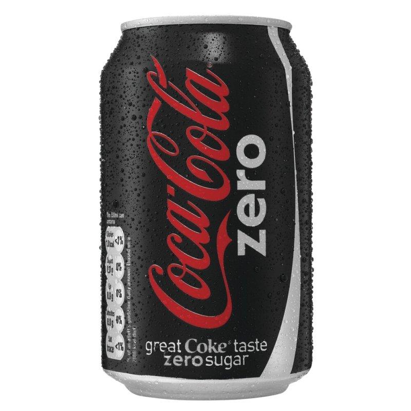 Coca Cola Zero 330ml Can - 24 Pack