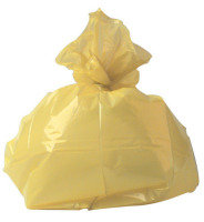2Work Refuse Sack 100g Yellow (Pack of 200)