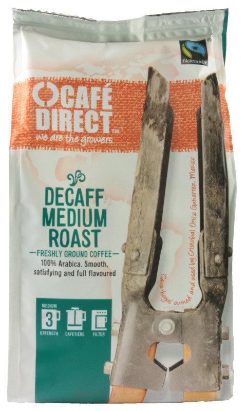 Image of Cafedirect Fair Trade Organic Decaf Ground Coffee - 227g