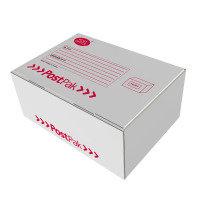 POSTPAK WHITE BOX SMALL WHT RED BLK PK20