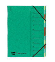 EUROPA 12PART ORGANISER GREEN 5223Z