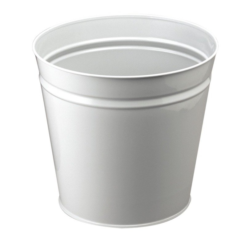 Q CONNECT WASTEPAPER BIN METAL ROUND GRY