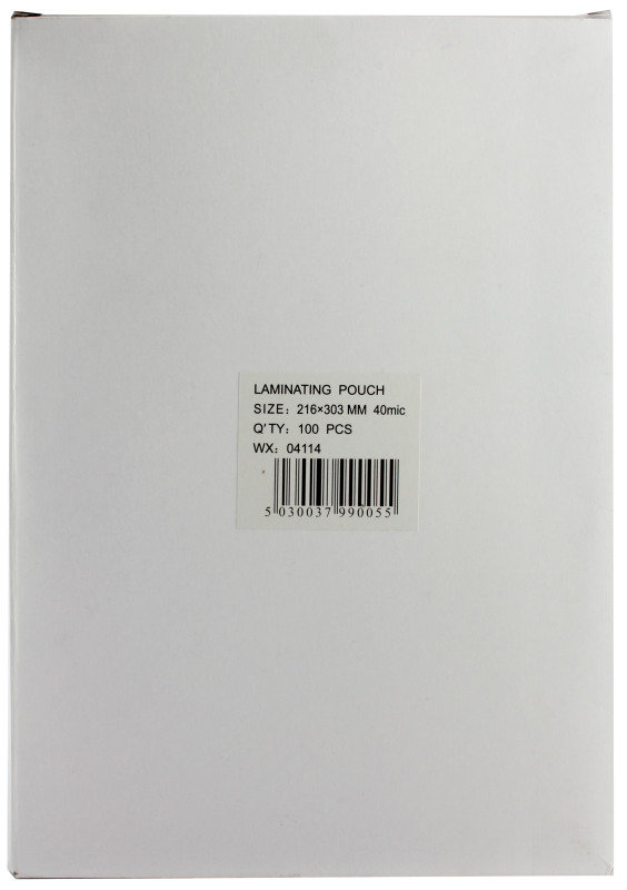 Extra Value A4 40 Micron Laminating Pouches - 100 Pack