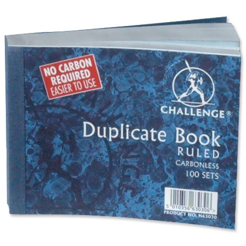 Image of Challenge Carbonless Dup Bk 105x130mm Ft - 5 Pack