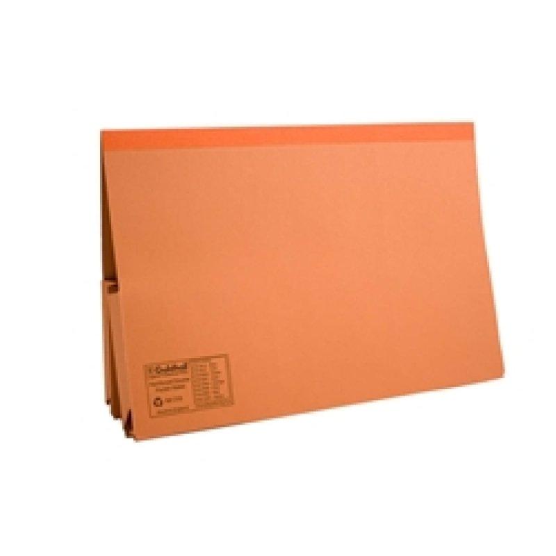 Guildhall Double Pocket Wallet Orange - 25 Pack