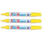 Artline Marker Medium Point Yellow 400 - 12 Pack