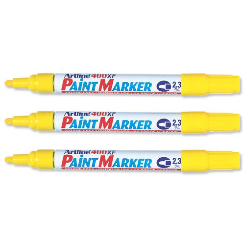 Image of Artline Marker Medium Point Yellow 400 - 12 Pack