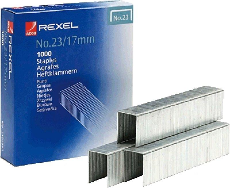 REXEL HEAVY DUTY STAPLES NO23/17MM P1000