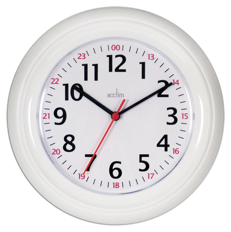 Image of ACCTIM WEXHAM 24 HOUR WALL CLOCK WHT