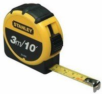 Stanley 3M/10 Foot Tape Measure - Yellow