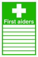 SIGNSLAB 300X200 FIRST AIDERS PVC