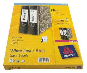 AVERY LEVER ARCH LBL 200X60MM P100 L7171