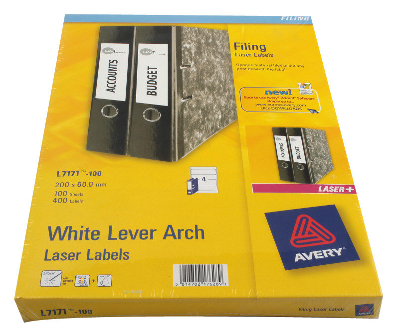 Avery Lever Arch Lbl 200x60mm P100 L7171 Ebuyer