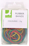 Q Connect Rubber Bands Coloured 15g - 10 Pack