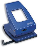 Rapesco 835 2-Hole Metal Punch (40 Sheets) (blue)