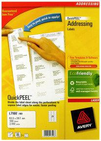 AVERY LSR LBL PK100 L7160-100 FPC
