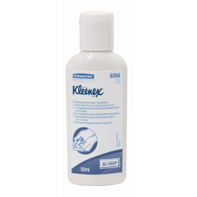 Image of KLEENEX SANITISER 50ML CLEAR 6356 PK24