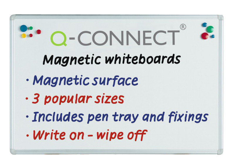 Q CONNECT MAG DRYWIPE BOARD 900X600MM