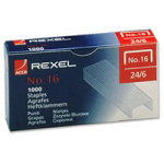 REXEL STAPLES NO16 6MM PK5000 06010