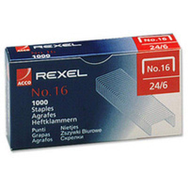 REXEL STAPLES NO16 6MM PK5000 06010