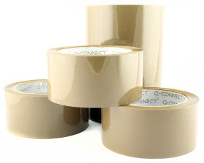 Qconnect Packaging Tape Low Noise Brown - 6 Pack