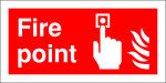 Extra Value 100x200mm Self Adhesive Safety Sign - Fire Point