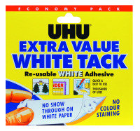 UHU White Tack Economy Pack 129g 43527 pack of 6