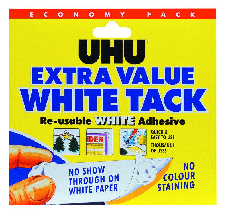 UHU White Tack Economy Pack 129g 43527 pack of 6