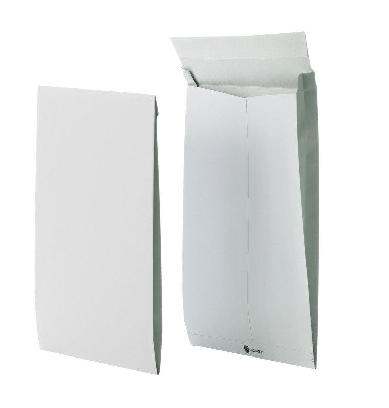 Securitex Tear Resistant C4 34mm Gusset Envelope Pocket 130gsm White Pack of 50