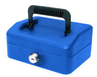HELIX 15CM SLOPING LID CASH BOX BLUE