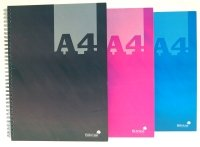 Silvine A4 Cbund Twin Wire Notebook Asst - 6 Pack