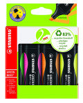Stabilo Greenboss Highlighter Pen Wallet of 4 Assorted
