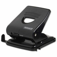 Rapesco 827 2-Hole Metal Punch (30 Sheets) (black)