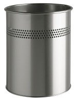 Durable Waste Basket Metal Round 15/P 30 mm Silver