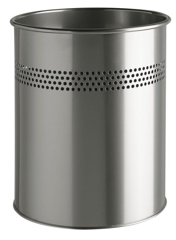 Durable Waste Basket Metal Round 15/P 30 mm Silver
