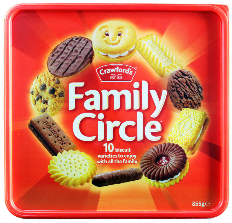 Jacobs Family Circle Biscuits  900g