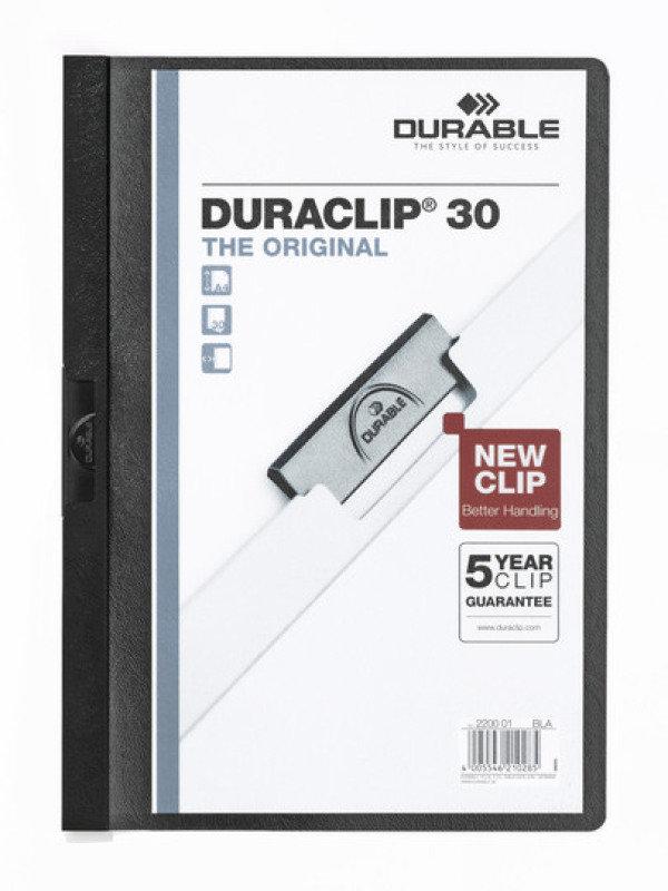Durable DURACLIP File 30 A4 Black 25 Pack