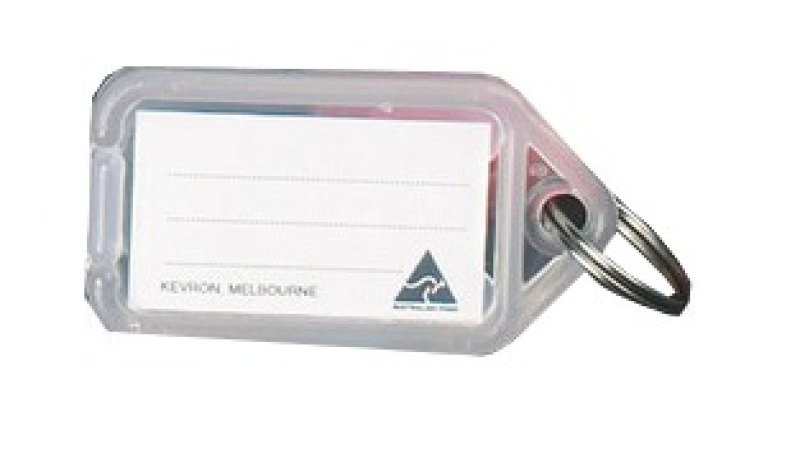 Image of Kevron Clicktag Plastic Clear 100 Pack