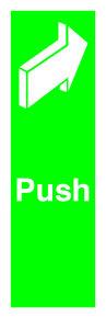 SIGNSLAB 150X50 PUSH S/A