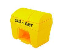 SALT/GRIT BIN W/ HOPPER FEED 200L YLW